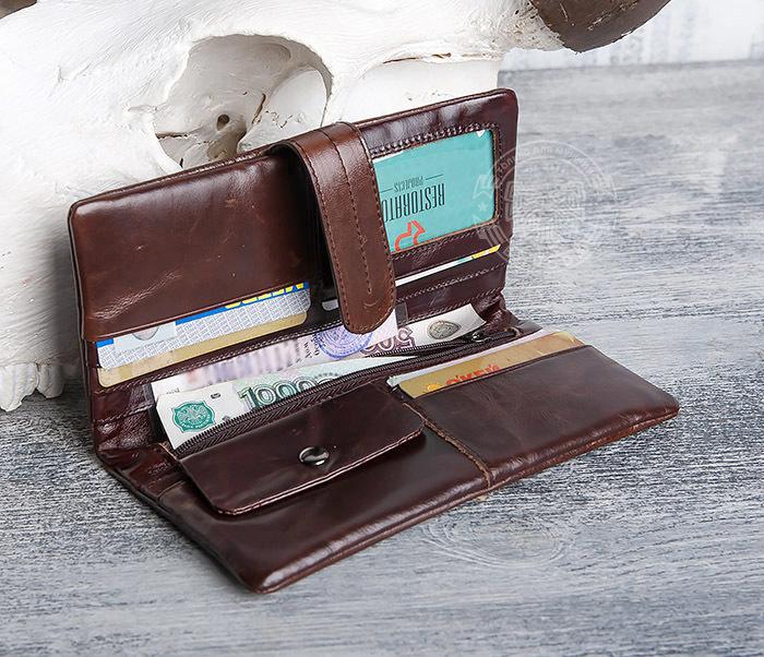 WL270-2 Мужской клатч из кожи винтажного дизайна фото 07