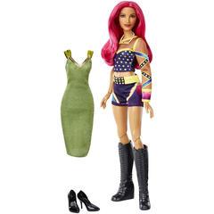 Кукла Саша Бэнкс (Sasha Banks) с подолнительным нарядом - WWE Superstars, Mattel