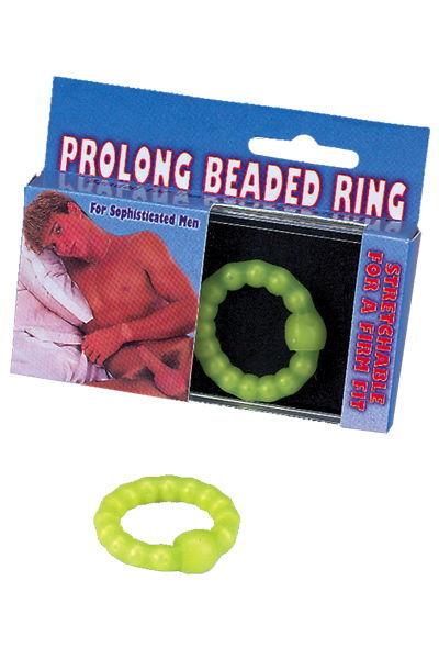 Эрекционные кольца: Салатное эрекционное кольцо с бусинами