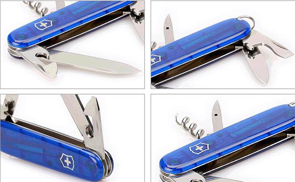 Складной нож Victorinox Spartan Blue Trans (1.3603.T2) 91 мм., 12 функций, синий полупрозрачный - Wenger-Victorinox.Ru