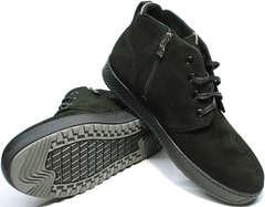 Кожаные ботинки с мехом мужские Ikoc 1617-1 WBN.