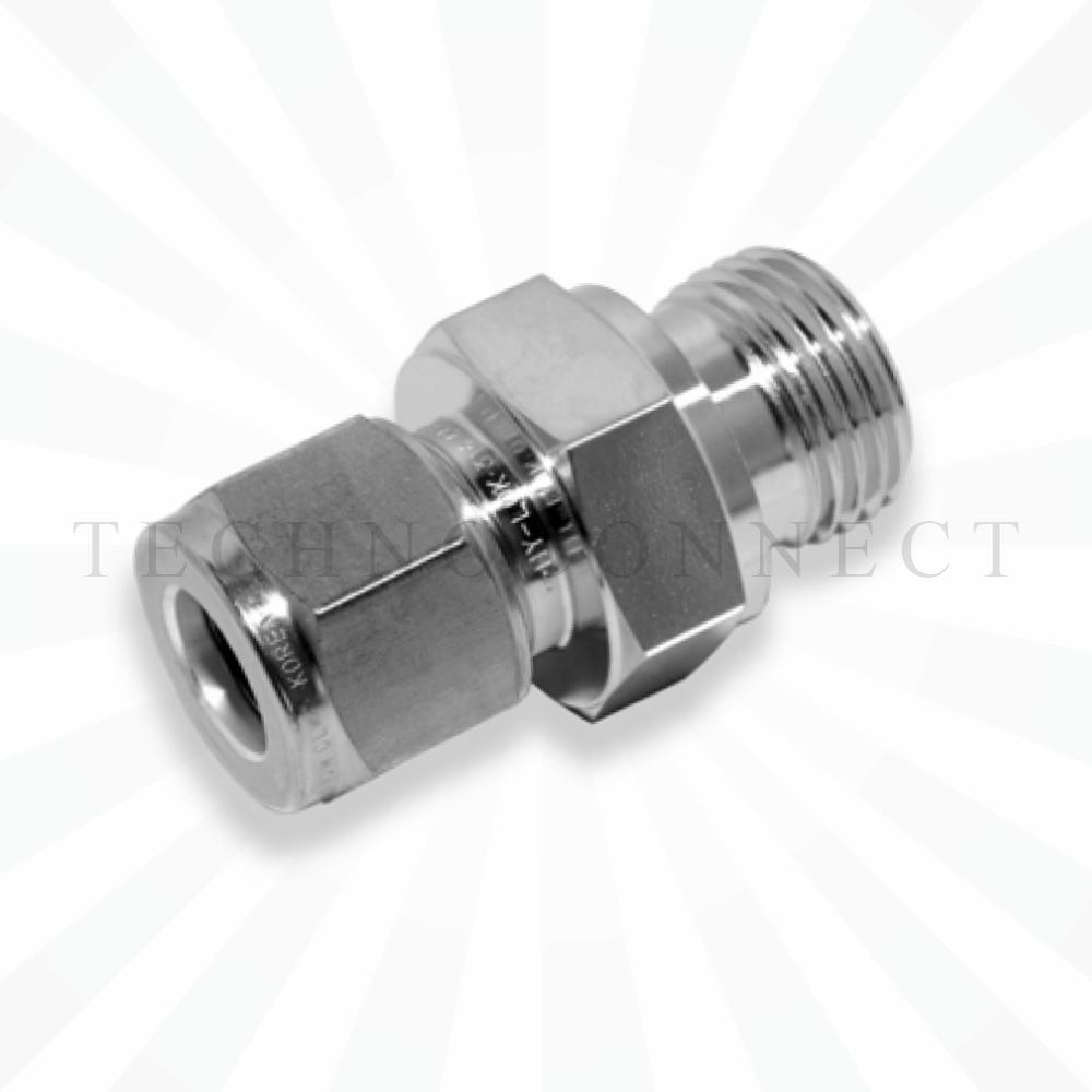 COM-4M-2G  Штуцер для термопары: метрическая трубка 4 мм- резьба наружная G 1/8