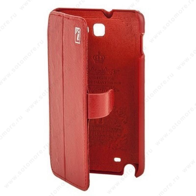 Чехол-книжка iCarer для Samsung Galaxy Note N7000 красный
