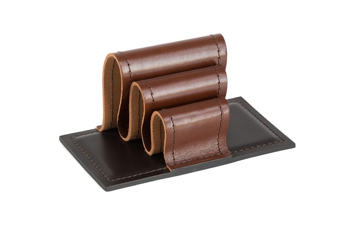 Визитница-холдер BUVARDO PREMIUM из кожи Full Grain Toscana/Cuoietto шоколад