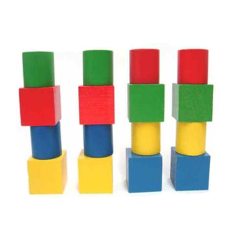 Набор геометрических фигур цветной (16шт.) (RNToys