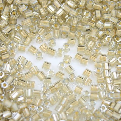 0369 Бисер японский TOHO Hexagon (шестиугольный) 11/0, изнутри окрашен - черный алмаз/кремово-оранжевый