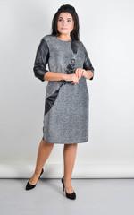 Гала. Нарядное платье большого размера. Серебро.