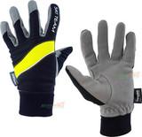 Перчатки лыжные Ski Team K18003BL черно/салатовые