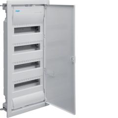 Щиток для пустотелых стен,Volta,IP30,4x12М,DIN43871, глубина уст 90мм, RAL9010