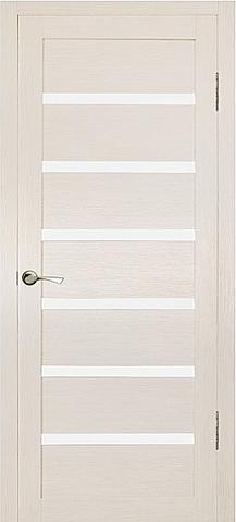 Дверь MaxDoors КЛ-7, стекло белое, цвет лиственница кремовая, остекленная
