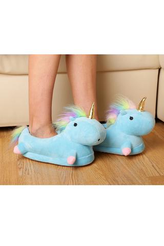 """Тапочки """"Slippers Unicorn Голубые"""""""