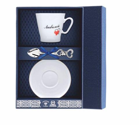 Набор кофейный «Черный кофе-Сердечки Любимой» 3пр.