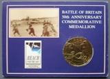 K8769, 1990, Великобритания, Медаль D40 мм. Битва за Британию Буклет