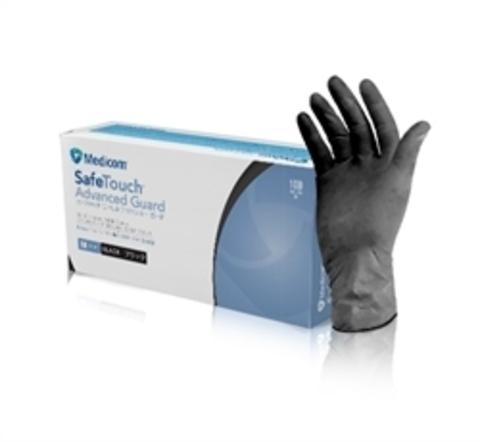 Перчатки нитриловые текстурированные без пудры нестерильные SafeTouch Advanced Black