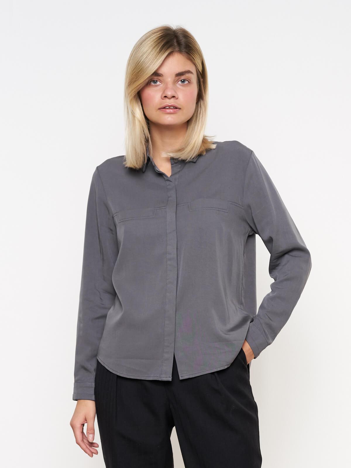 Рубашка с декоративными карманами