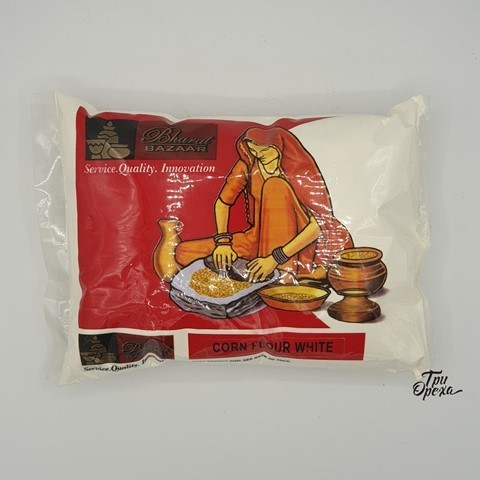 Мука Кукурузная белая Bharat Bazaar, 500 гр
