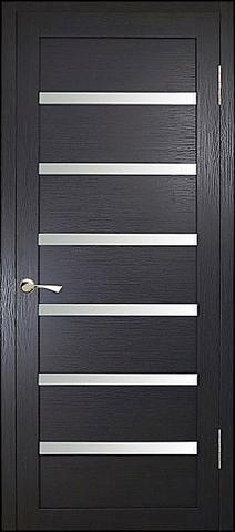 Дверь MaxDoors КЛ-7, стекло белое, цвет орех тёмный, остекленная