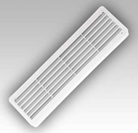Решетка 450х130мм дверная двухсторонняя переточная Эра 4513ДП