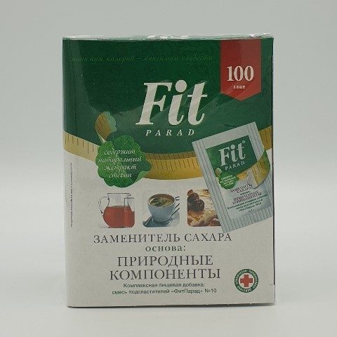 Заменитель сахара на основе эритрита №10 (100 шт*0.5 гр) ФИТПАРАД, 50 гр