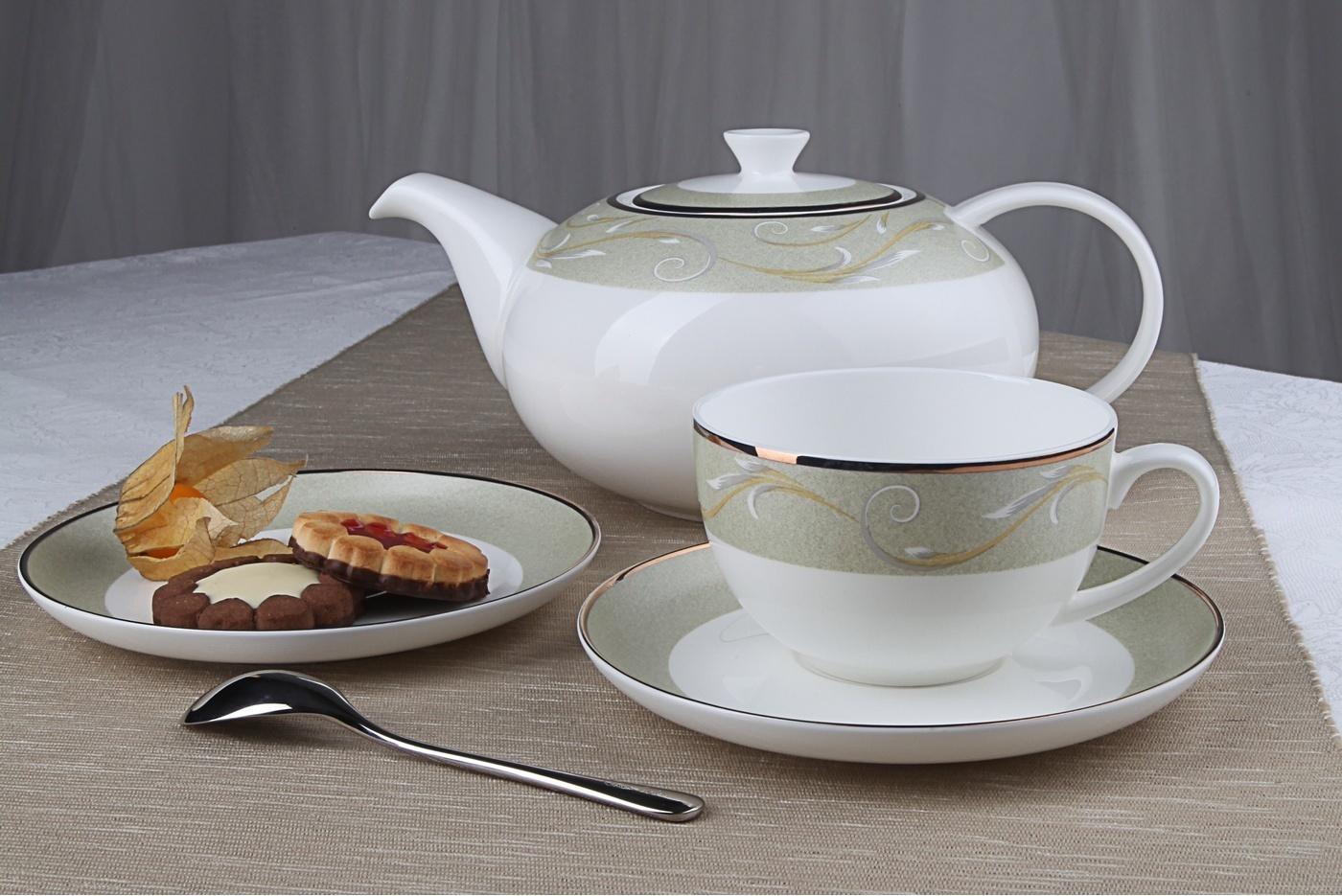 """Чайный сервиз Royal Aurel """"Престиж"""" арт.137, 13 предметов"""