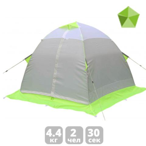 Зимняя палатка Лотос 2 (зеленая/оранжевая)