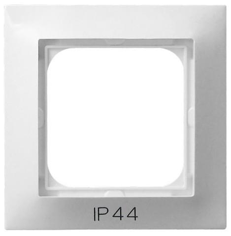Рамка на 1 пост для выключатель IP-44. Цвет Белый. Ospel. Impresja. RH-1Y/00