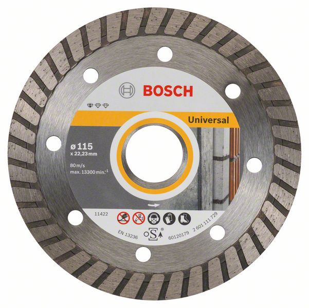 Алмазный диск Standart for Universal Turbo 115-22,23 10шт Bosch 2608603249