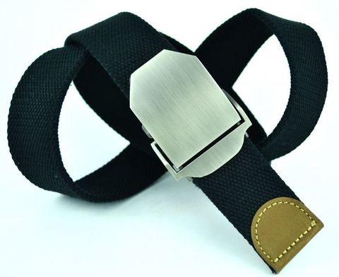 Ремень текстильный мужской чёрный стропа 4 см 40Stropa-001