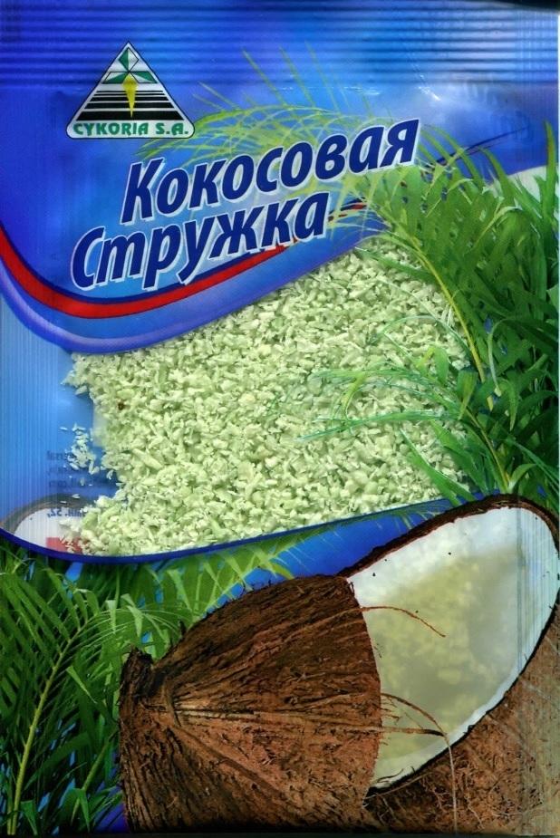 Кокосовая стружка зеленая, 50 гр.