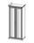 Шкаф БЕАТРИС 2-х створчатый с зеркалами крем