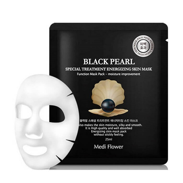 Маска для лица интенсивная с экстрактом черного жемчуга Medi Flower Special Treatment Energizing Mask Pack Black Pearl 5x25мл