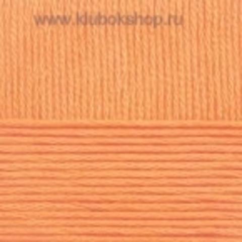 Пряжа Хлопок натуральный (Пехорка) манго 186