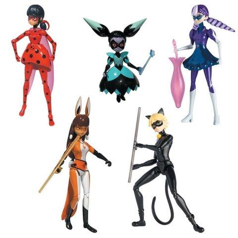 Набор из 5 фигурок 14 см - Леди Баг и Супер Кот, Bandai
