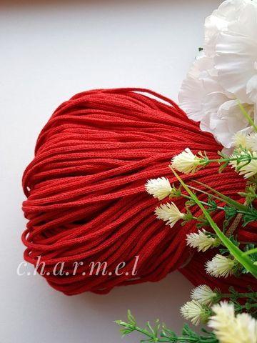 Красный  Хлопковый шнур