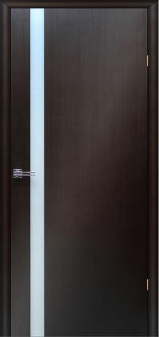 Дверь Сакура (венге, остекленная шпонированная), фабрика LiGa