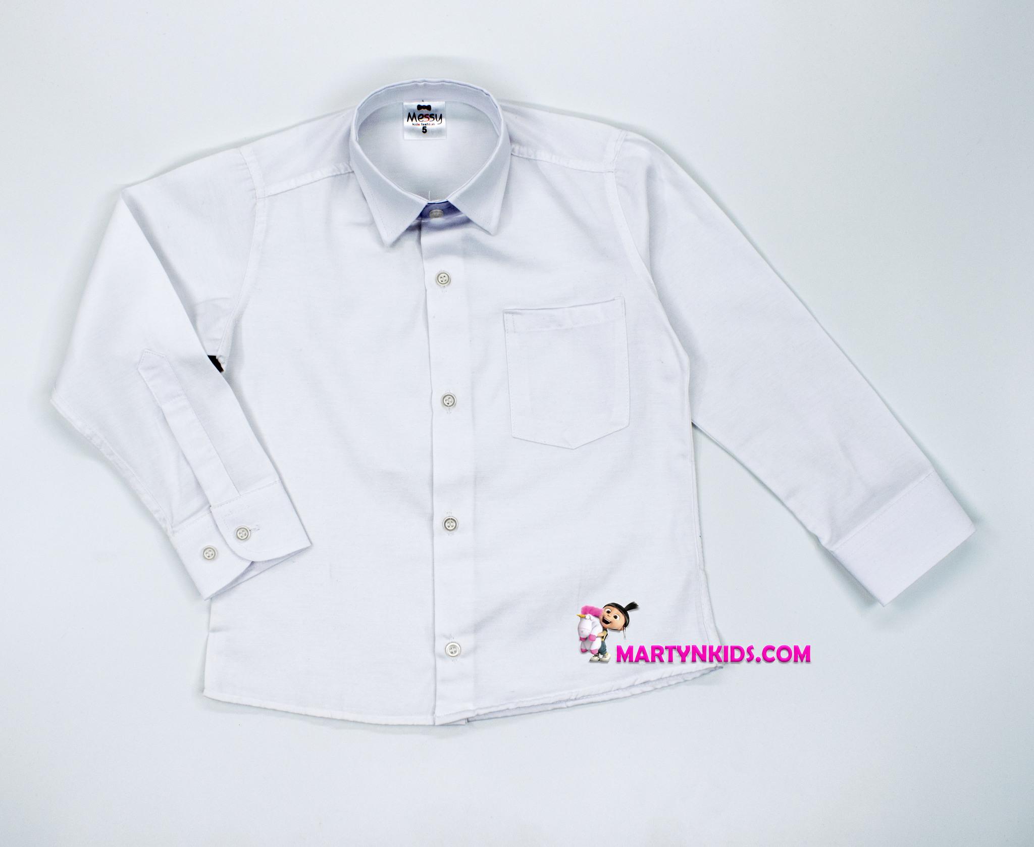 2619 рубашка белая школа