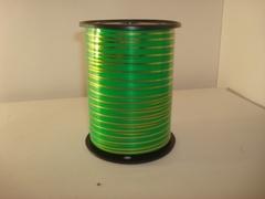 Лента с зол/пол.(0,5 см*250 ярд.) Зеленая