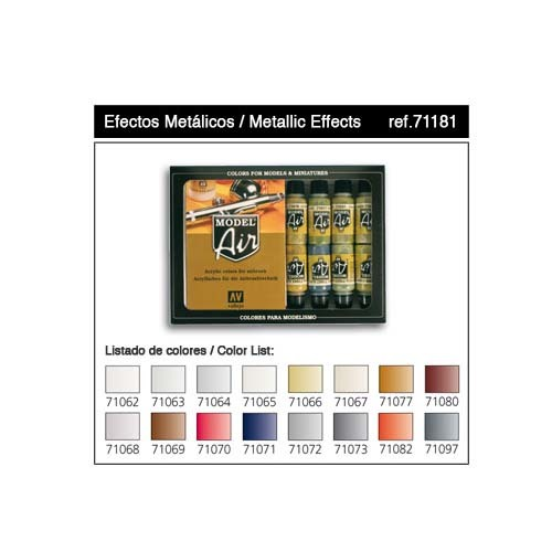 Набор Model Air Metallic Effects  (16цв.)