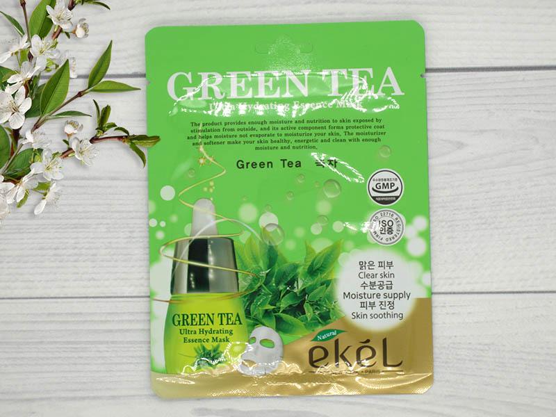 538754 EKEL Тканевая маска для лица с экстрактом зеленого чая Green Tea