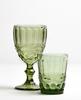 Зеленый стакан с фужером
