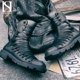 Высокие ботинки на шнуровке «YAED» купить