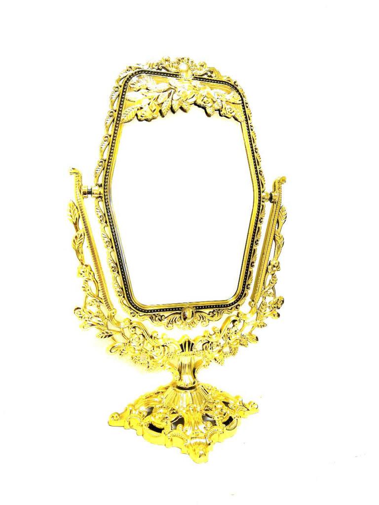 Двустороннее прямоугольное косметическое зеркало с увеличением Cosmetic Mirror арт. 209-8, 23х14 см