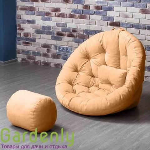 Бескаркасное кресло Оустер велюр S