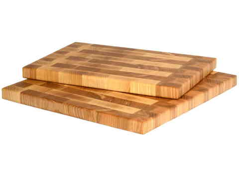 Комплект деревянных торцевых разделочных досок 2шт. 30х20х3 см, 30х30х2 см ясень