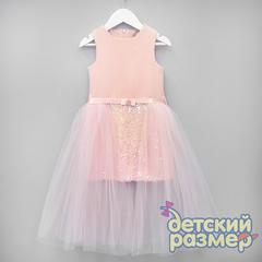 Платье (пайетки, бантик-брошь)