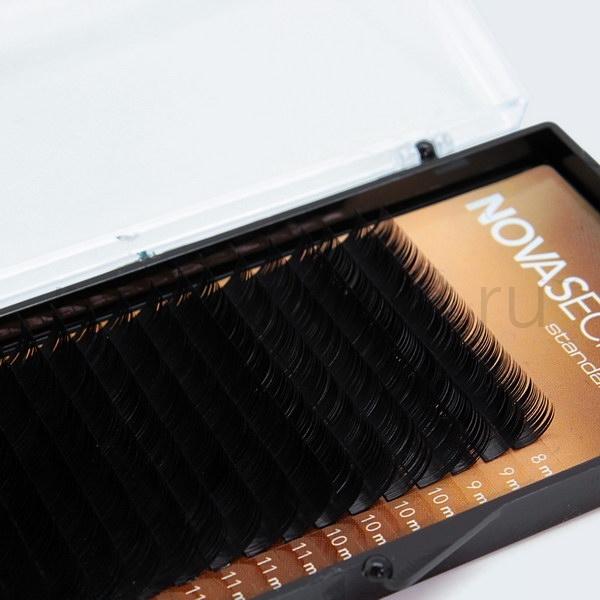 "NovaSecret Ресницы NOVASEСRET standart 18 Черные, изгиб ""С"" 1__2_.jpg"