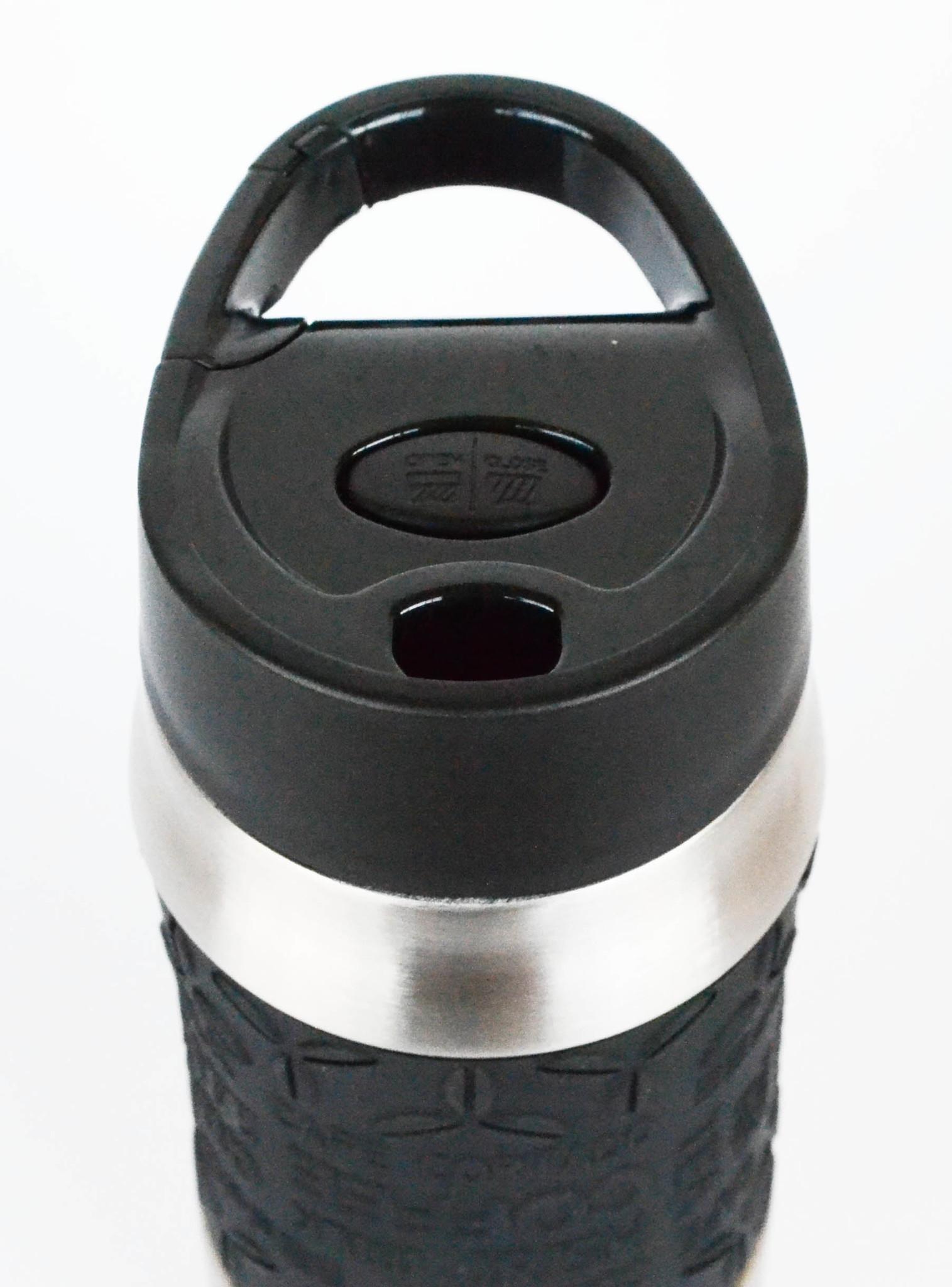 Термокружка с карабином Kamille 380 мл. черная