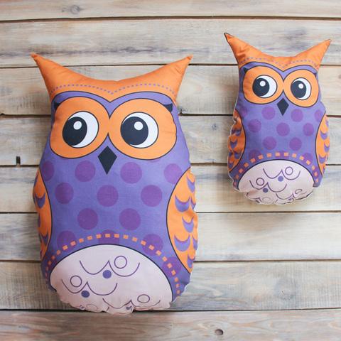 Игрушка Подушка Violet Owl Фиолетовая Сова