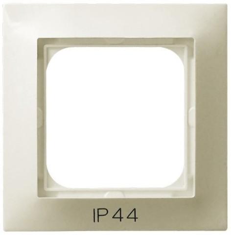 Рамка на 1 пост для выключатель IP-44. Цвет Бежевый. Ospel. Impresja. RH-1Y/27