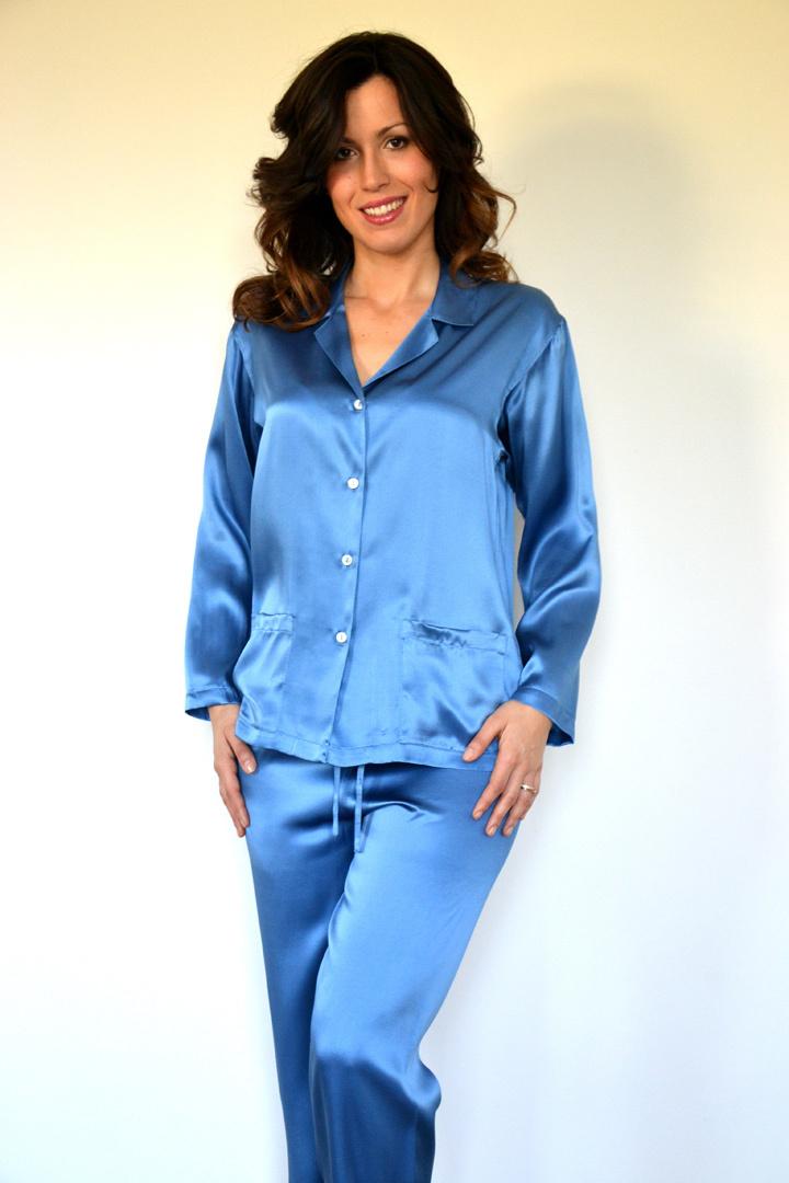 Шелковая женская пижама B&B